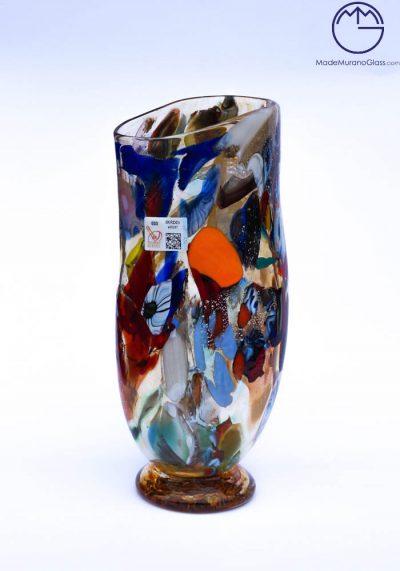 Asia – Murano Glass Vase Fantasy Amber – Venetian Blown Glass