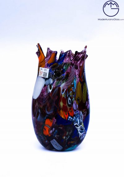 Amalfi – Murano Glass Vase Fantasy Amethyst – Venetian Blown Glass