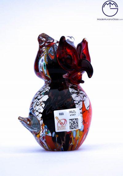 Collection Aida Sommerso – Murano Glass Bird Owl In Murano Glass