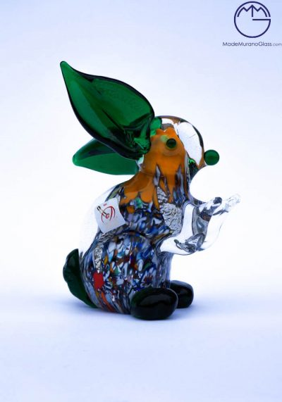 Collection Aida Sommerso – Murano Glass Animal Rabbit In Murano Glass