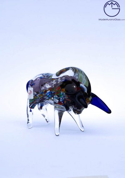 Collection Aida Sommerso – Murano Glass Animal Bull In Murano Glass