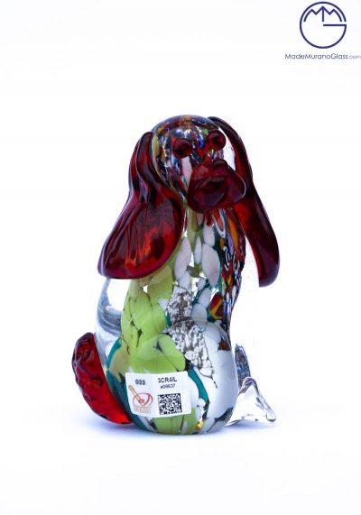 Collection Aida Sommerso – Murano Glass Animal Dog In Murano Glass