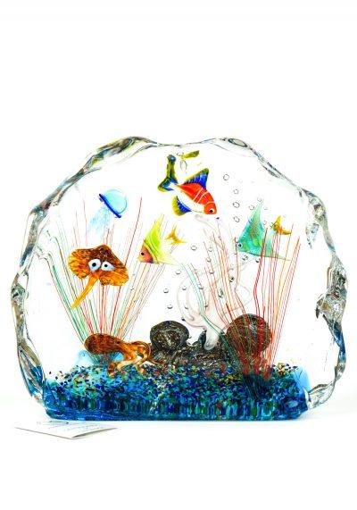 Murano Glass Aquarium Half-Moon