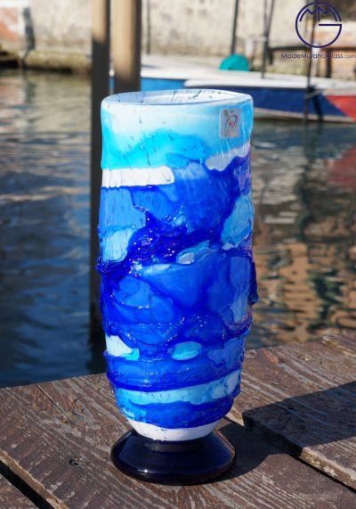 Adriatic – Murano Glass Vase Sbruffi Blue