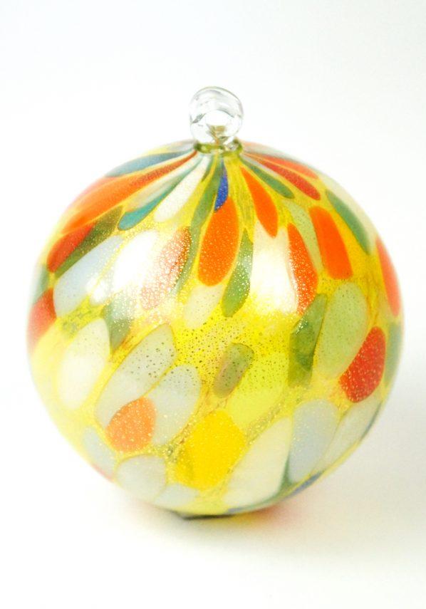 Scintilla - Palla Di Natale Multicolore Oro In Vetro Soffiato