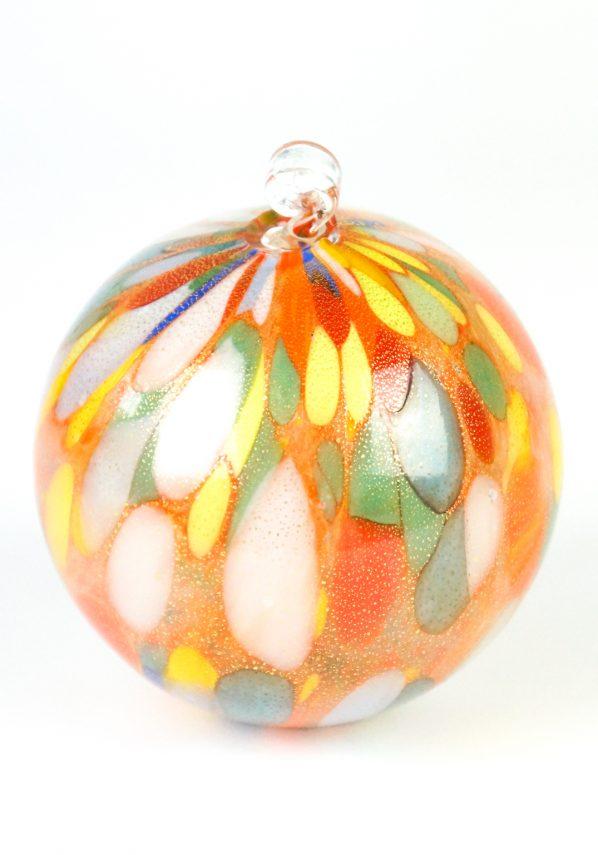 Silence - Palla Di Natale Multicolore In Vera Foglia Oro 24kt