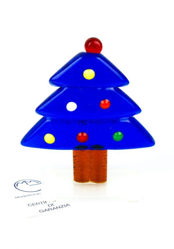 Albero Di Natale Blu In Vetro Di Murano