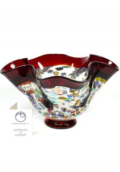 Tupy – Red Bowl Millefiori – Made Murano Glass