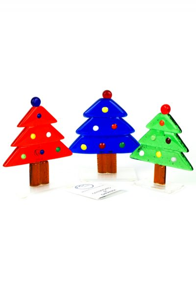 Tris Christmas Trees – Murano Glass Ornaments