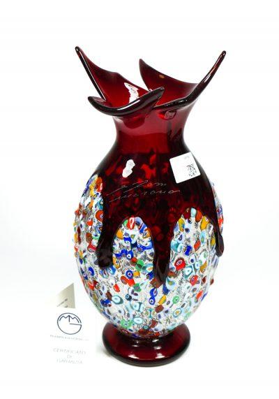 Jack – Blown Vase Red – Made Murano Glass