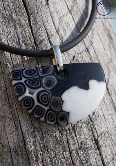 Eternity – Murano Jewelry With Murrina Black And White – Murano Glass