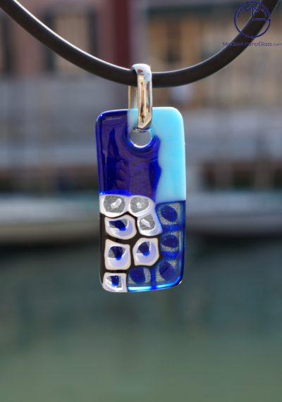 Corazon – Collana Murano Vetro Fusione Murrina Blu