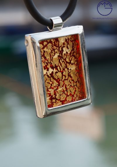 Etna – Murano Glass Jewelry Red And Gold 24k