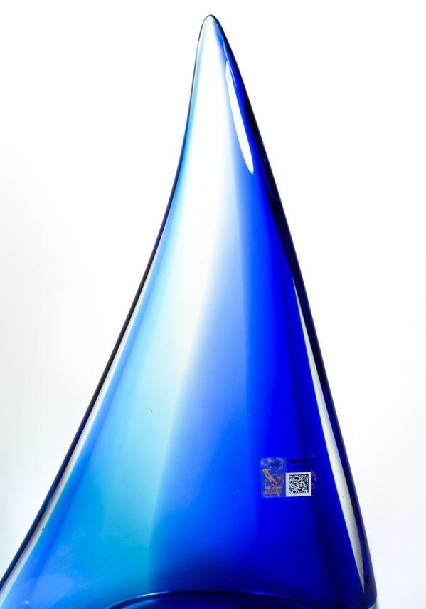 Barca A Vela Grande Blu In Vetro Murano - Made Murano Glass Murano glass sailboat