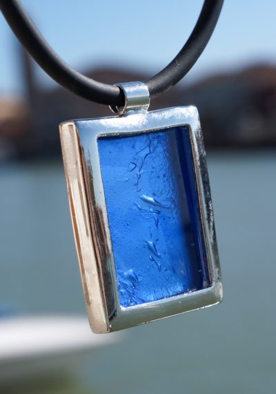 Infinity – Murano Glass Jewelry Silver Sea Water