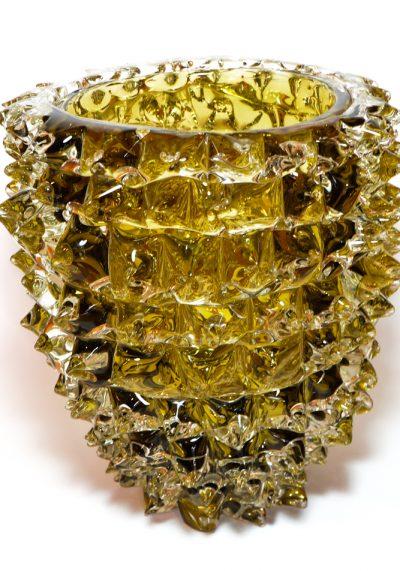 Exclusive Murano Glass Vase Rostrato Smoke Grey