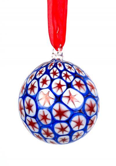 Xmas Ball  With Murrina Millefiori Blue