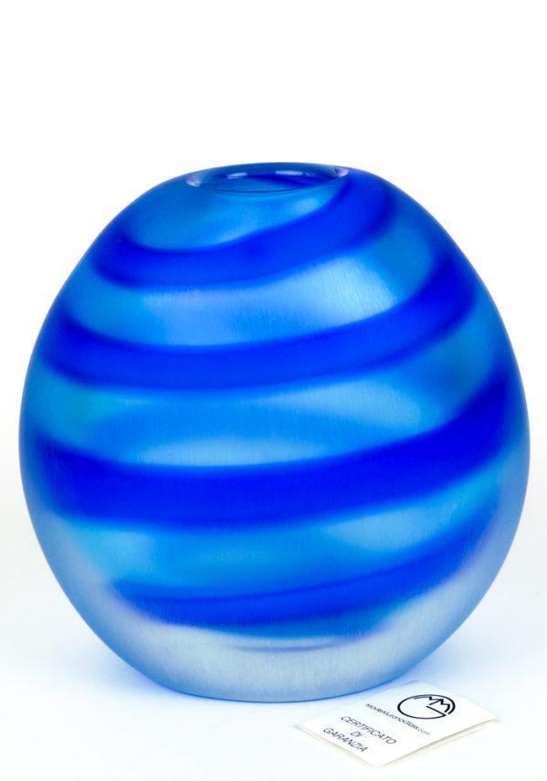 Nobre - Vaso Vetro Soffiato Fasce Blu