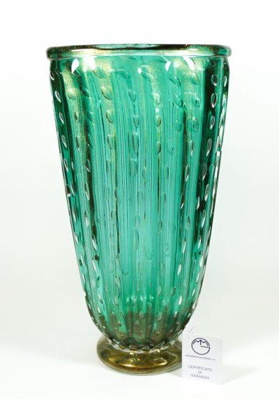 Smeraldo – Venetian Glass Vase Balloton  Emerald – Made Murano Glass
