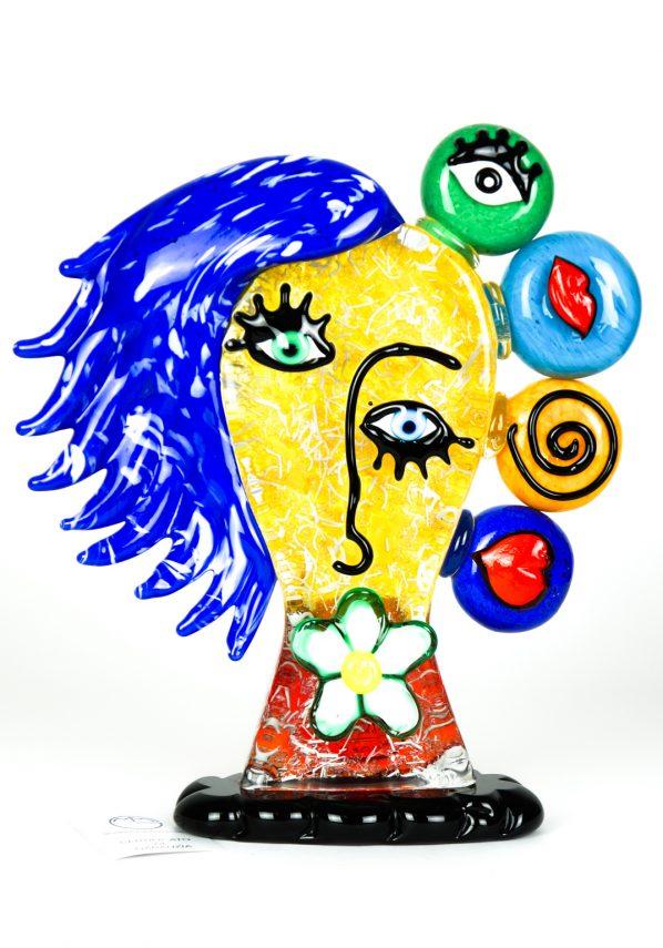 Birikina - Testa Di Donna Tributo A Pablo Picasso  - Made Murano Glass