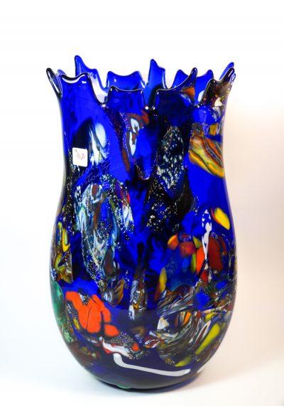 Monaco – Vase Fantasy Blue – Venetian Blown Glass