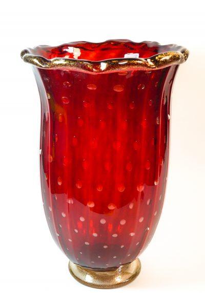 Mexico – Murano Glass Vase Balloton Red Gold