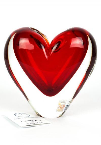 Heart Red Sculpture – Made Murano Glass