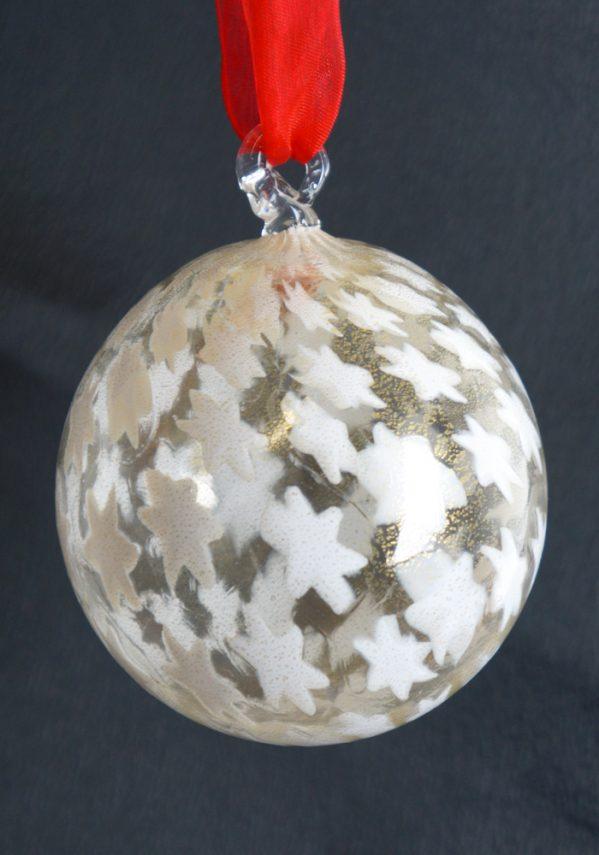 Palla Di Natale Bianca Millefiori