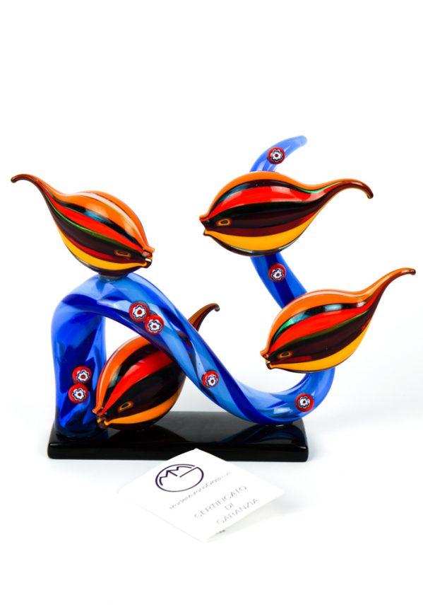 Acquario 4 Pesci Tropicali Multicolor