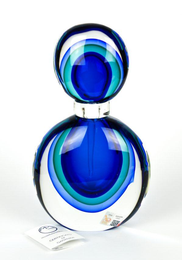 Living - Bottiglia Porta Profumo Con Tappo Sommerso - Made Murano Glass