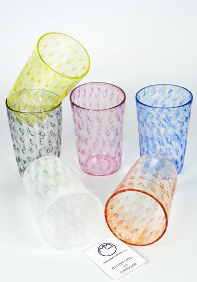 Lipari – Set Of 6 Drinking Glasses – Made Murano Glass