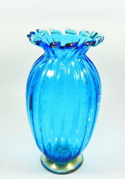 Canada – Murano Glass Vase Balloton Sea Water Gold