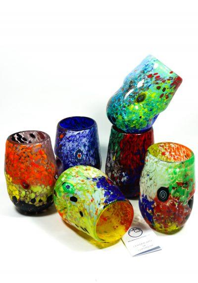 Samba – Set Of 6 Murano Drinking Glasses – Made Murano Glass