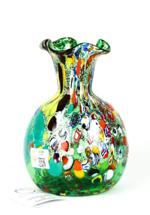 Fiorito - Vaso Vetro Murano Fantasia Verde