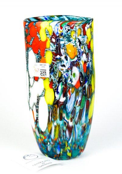 Jony – Murano Glass Vase Fantasy Aquamarine