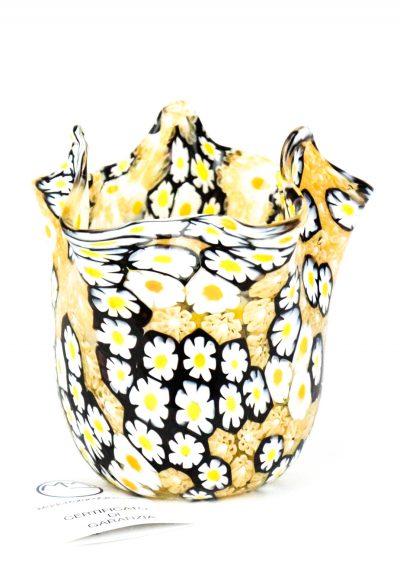 Daisy – Murano Handkerchief Vase Murrina Millefiori