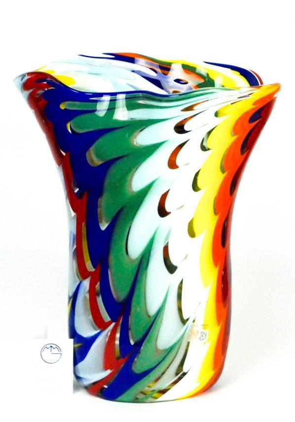 Yari - Vaso Vetro Soffiato Fenicio Multicolore
