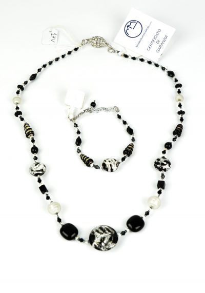 Lisia – Necklace And Bracelet Made Of Murano Glass
