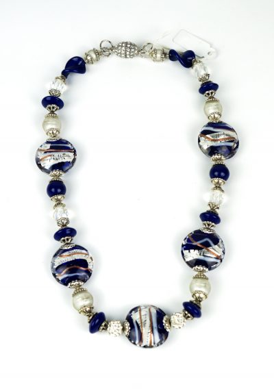 Blues – Necklace Made Of Murano Glass