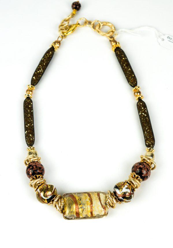 Orofilo - Collana Perle In Vetro Soffiato