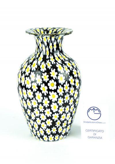Venetian Glass Vase – Margherita – With Murrina Millefiori