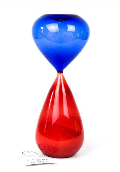 Murano Hourglass – Blue Red