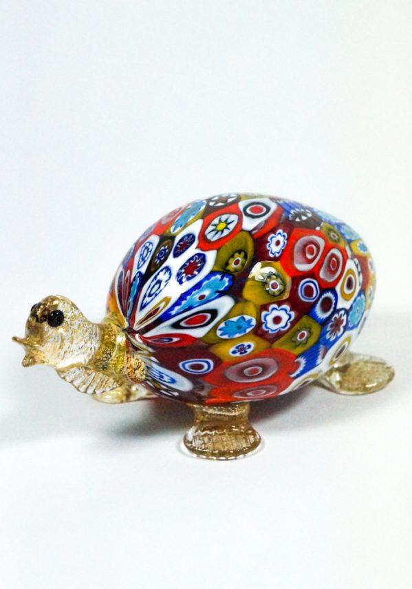 Tartaruga - Collezione Animali In Vetro Murano Con Murrina Millefiori