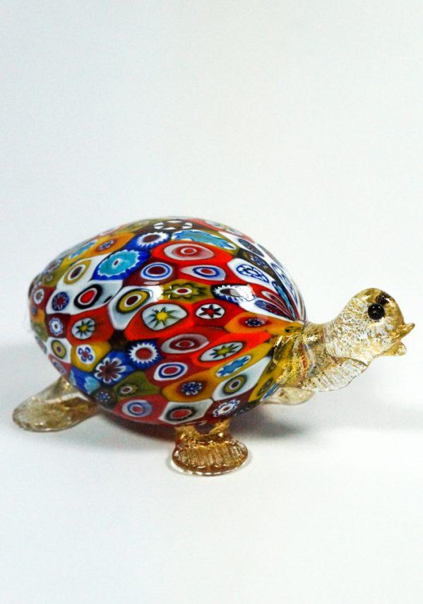 Tartaruga - Collezione Animali In Vetro Murano Con Murrina Millefiori murano glass turtle