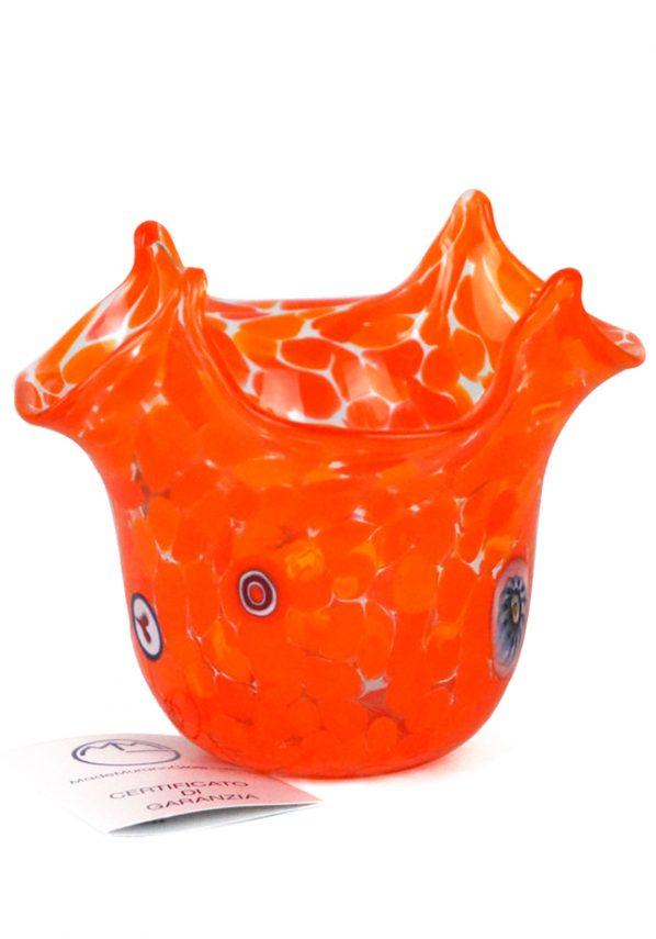 Rik - Vaso Murano Fazzoletto Arancio