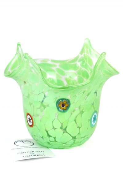 Les – Murano Handkerchief Vase Green