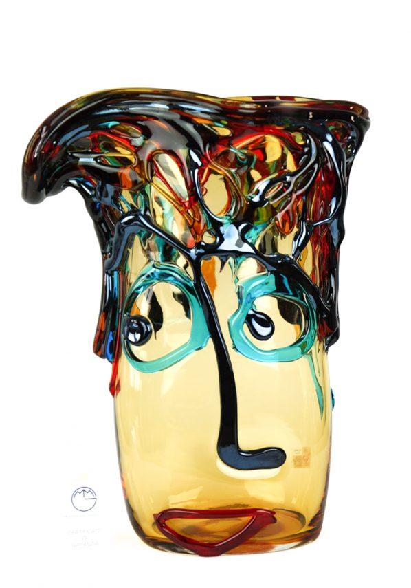 Vaso Tributo Pablo Picasso Ambra