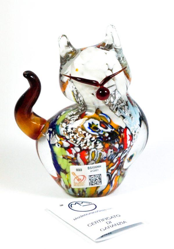 Collezione Aida Sommerso - Gatto In Vetro Murano
