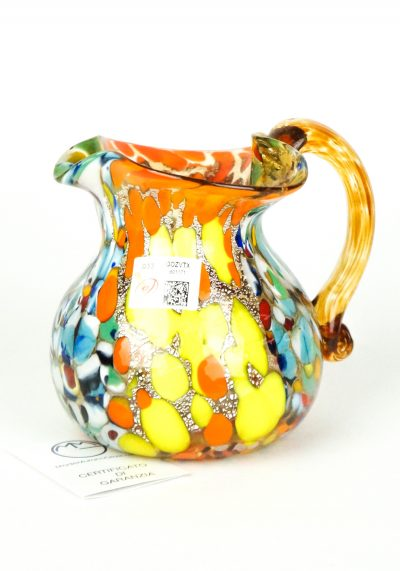 Jug In Murano Blown Glass Amber Fantasy