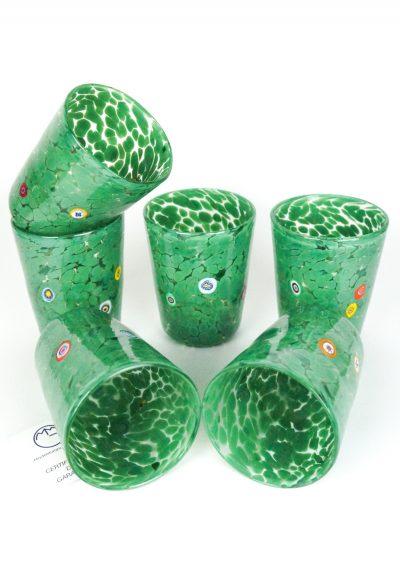 Irys – Set Of 6 Drinking Glasses Green – Murano Tumbler
